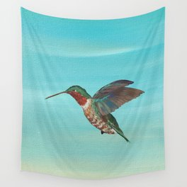 Hummingbird on the Move Wall Tapestry