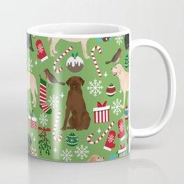Labrador retrievers christmas festive holiday gifts for dog lover in your life dog breeds custom art Coffee Mug