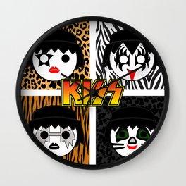 KISS MOBIL / Dynasty - Metal - Creatures of the night - Digital Ilustration - pop art Wall Clock