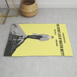 The Secret Life of Walter Mitty Minimalist Movie Poster Rug