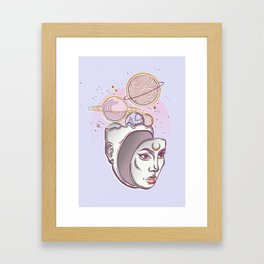 Face Falling From Space Framed Art Print