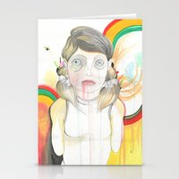zombie Stationery Cards featuring Zombie by Raül Vázquez