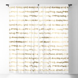Amour French Love Script Gold Typography Pattern 3 Blackout Curtain