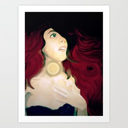 Realistic Portrait, Ariel Art Print