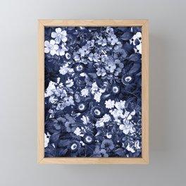 Bohemian Floral Nights in Navy Framed Mini Art Print