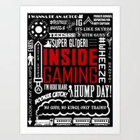 inside gaming Art Prints featuring Inside Gaming Moments by Jin Smoth