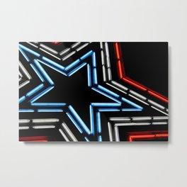 Neon Star Metal Print