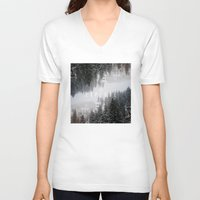 explore V-neck T-shirts featuring Explore by ztwede