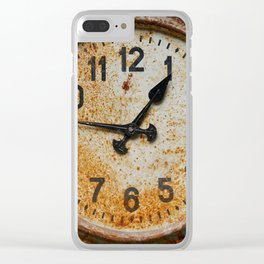 Old wall clock Clear iPhone Case
