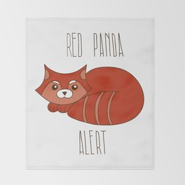 Funny little abstract red panda Throw Blanket