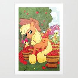 Applejack and Family Art Print