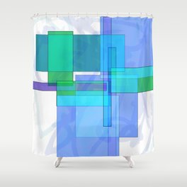 Squares combined no. 4 Shower Curtain