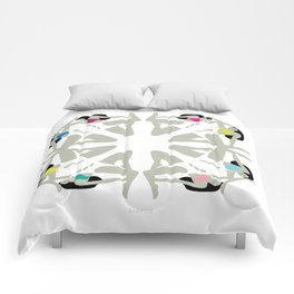 Weekend Girls Repeat Illustration Comforters
