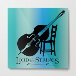 Double Bass Lord of the Strings Metal Print