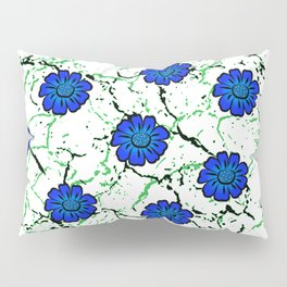 Summer Bloom - Blue Pillow Sham