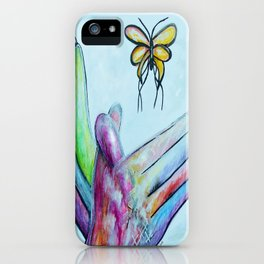 American Sign Language BUTTERFLY iPhone Case