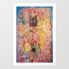Pink Nightmare Art Print