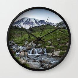 Edith Creek and Mount Rainier Wall Clock