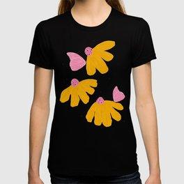 Yellow Chamomile Butterfly T-shirt