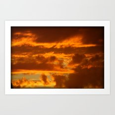 Clouds of Gold Art Print