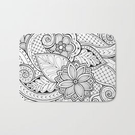 Creative flowers Bath Mat
