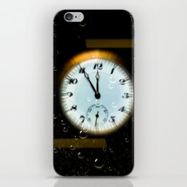 Time passes like soap bubbles iPhone Skin