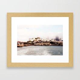 Soaring over San Francisco Framed Art Print