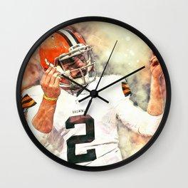 Johnny Manziel Wall Clock