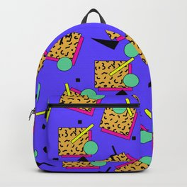 Seamless colorful pattern in retro style Backpack