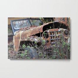Vintage Jeep Metal Print