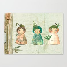 Herbs paperdolls Canvas Print