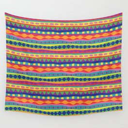 Stripey-Crayon Colors Wall Tapestry