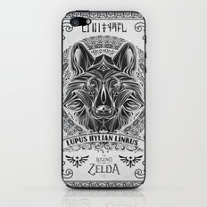 Legend of Zelda Twilight Wolf Link Line Art iPhone & iPod Skin