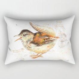 The small wren Rectangular Pillow