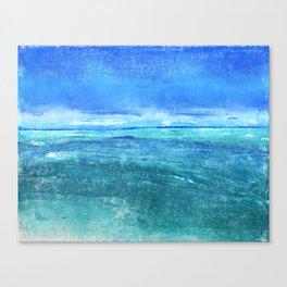 Blue Turquoise Oceanscape Canvas Print