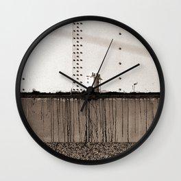 Grain Elevator Minimalist Photograph Wall Clock