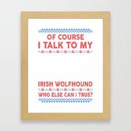 Irish Wolfhound Ugly Christmas Sweater Framed Art Print