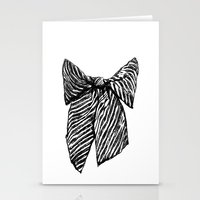 bow Stationery Cards featuring Bow by Samantha Turnbull