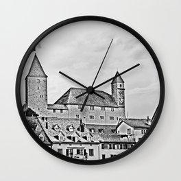 Rapperswil Castle 2 Wall Clock