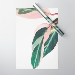 Pink Leaves II Wrapping Paper