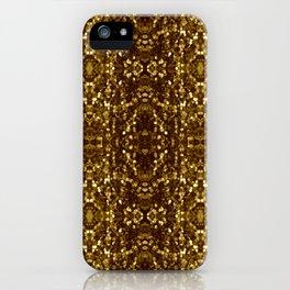 Golden Macro Glitter Pattern iPhone Case
