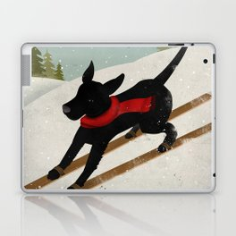 Black Dog Labrador Ski Mountain Laptop & iPad Skin