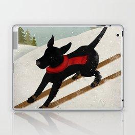Black Dog Labrador Ski Mountain Laptop & iPad Skin