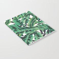 Tropical Glam Banana Leaf Print Notebook