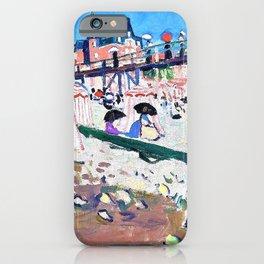 12,000pixel-500dpi - Albert Marquet - Fecamp, The Beach at Sainte Adresse - Digital Remastered iPhone Case