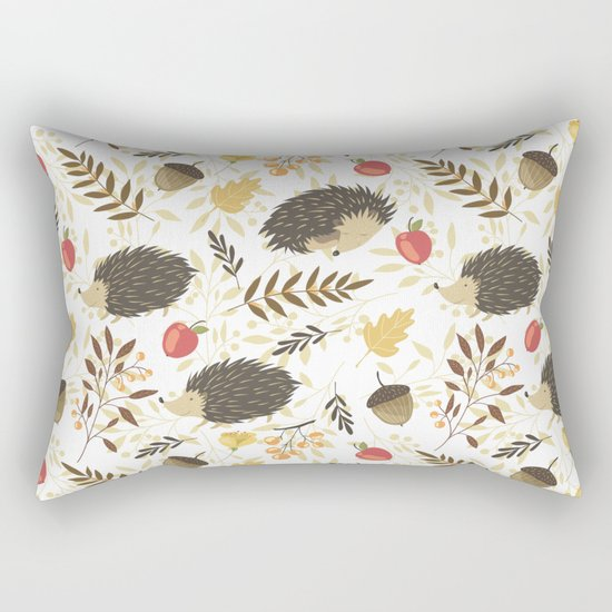 Cute hedgehogs Rectangular Pillow