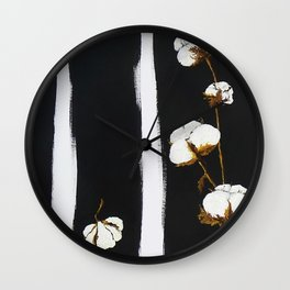 Cotton flowers Wall Clock