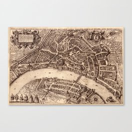 Map Of Basel 1615 Canvas Print
