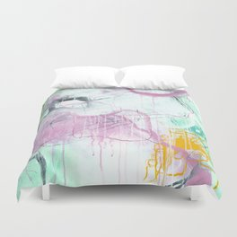 Chrystarium - Square Abstract Expressionism Duvet Cover