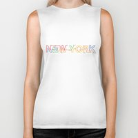 subway Biker Tanks featuring Subway NY by Legal Decor